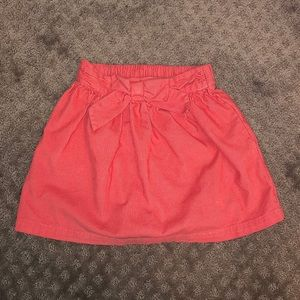 Hanna Anderson coral corduroy skirt size 5